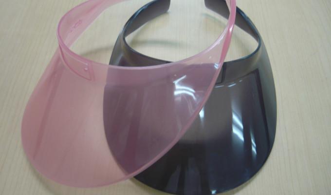 紫外線で色が変わるサンバイザー